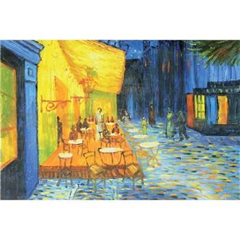 Vliesové fototapety terasa kavárny v noci - Vincent Van Gogh rozměr 375 cm x 250 cm