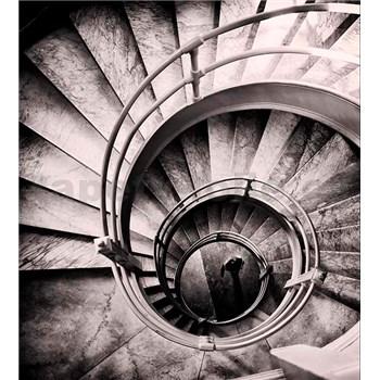 Vliesové fototapety spirálové schodiště rozměr 225 cm x 250 cm