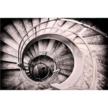Vliesové fototapety spirálové schodiště rozměr 375 cm x 250 cm