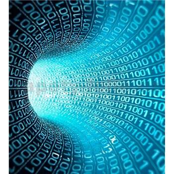 Vliesové fototapety binární proud rozměr 225 cm x 250 cm