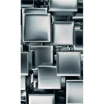 Vliesové fototapety kovové kostky rozměr 150 cm x 250 cm