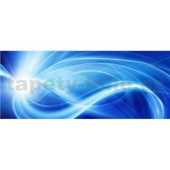 Vliesové fototapety abstrakt modrý rozměr 375 cm x 150 cm