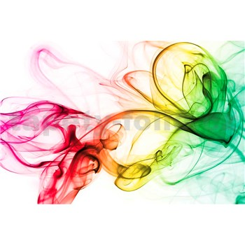 Vliesové fototapety kouř barevný rozměr 375 cm x 250 cm