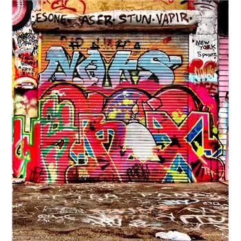 Vliesové fototapety graffiti ulice rozměr 225 cm x 250 cm