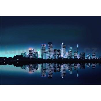 Vliesové fototapety noční velkoměsto rozměr 312 cm x 219 cm