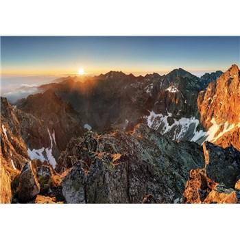 Fototapety Alpy a západ slunce rozměr 254 cm x 184 cm