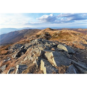 Vliesové fototapety výhled z hor 312 cm x 219 cm