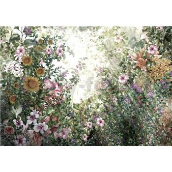 Vliesové fototapety luční květy rozměr 368 cm x 254 cm