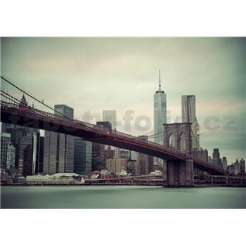 Vliesové fototapety New York a Brooklynský most rozměr 368 cm x 254 cm