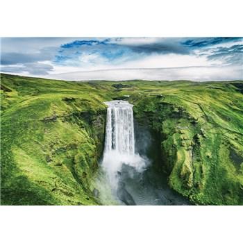 Vliesové fototapety vodopád rozměr 368 cm x 254 cm