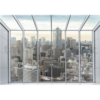 Vliesové fototapety výhled z loftu rozměr 368 cm x 254 cm