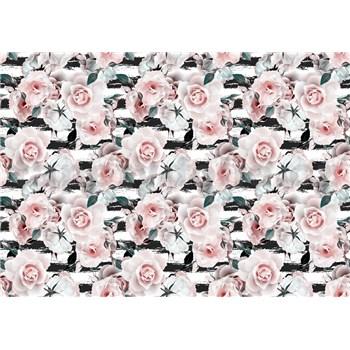 Vliesové fototapety růžové růže rozměr 368 cm x 254 cm