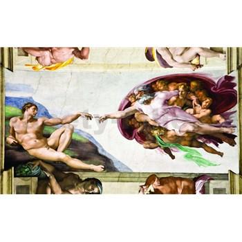 Fototapety Michelangelo Stvoření Adama rozměr 368 cm x 254 cm