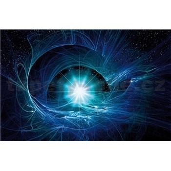 Vliesové fototapety modrý vesmírný Twist rozměr 416 cm x 254 cm