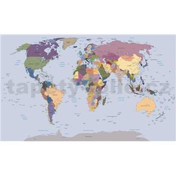 Fototapety mapa světa rozměr 254 cm x 184 cm