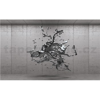 Vliesové fototapety 3D šedý abstrakt na betonovém podkladu rozměr 152,5 cm x 104 cm