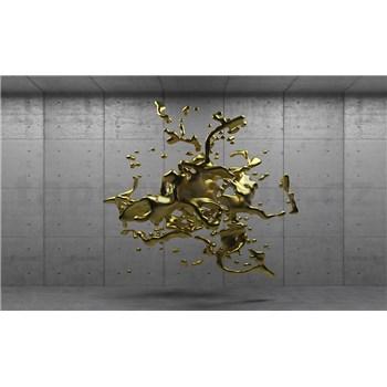Fototapety 3D zlatý abstrakt na betonovém podkladu rozměr 254 cm x 184 cm