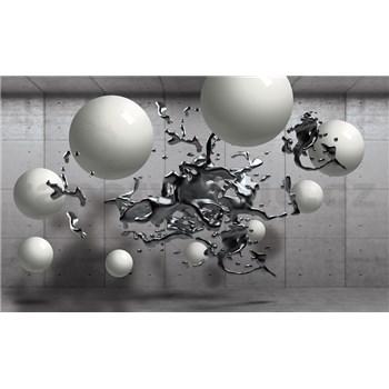 Vliesové fototapety 3D abstrakt a koule rozměr 152,5 cm x 104 cm