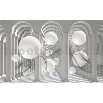 Fototapety 3D bílé koule rozměr 368 cm x 254 cm