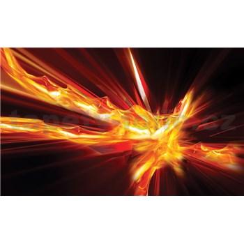 Vliesové fototapety abstrakce ohnivá rozměr 312 cm x 219 cm