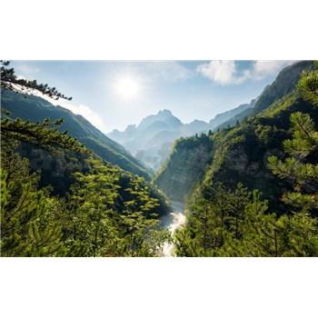 Vliesové fototapety Hefele skalní průsmyk, rozměr 450 cm x 280 cm