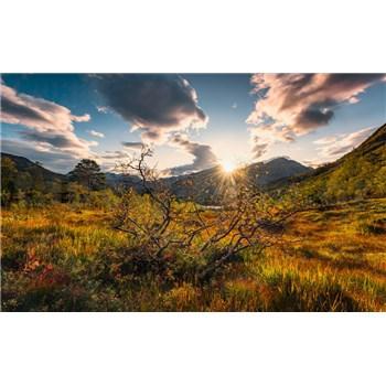 Vliesové fototapety Hefele podzimní Norsko, rozměr 450 cm x 280 cm