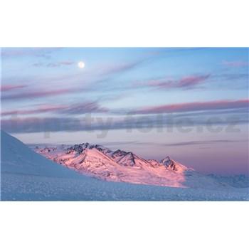 Vliesové fototapety Hefele fialový večer, rozměr 450 cm x 280 cm