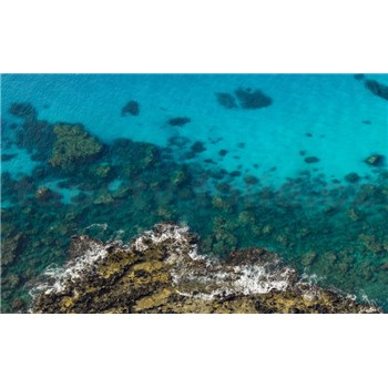 Vliesové fototapety Hefele zářivě modré moře, rozměr 450 cm x 280 cm
