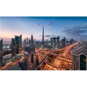 Vliesové fototapety Hefele světla v Dubaji, rozměr 450 cm x 280 cm