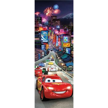 Fototapeta Disney Cars Mc Queen Tokyo rozměr 73 cm x 202 cm