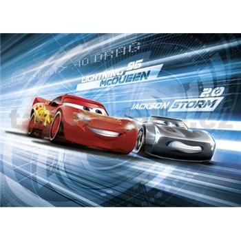 Fototapeta Disney Cars3 Mc Queen a Jackson Storm Simulation rozměr 254 cm x 184 cm
