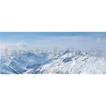 Vliesové fototapety hory v zimě rozměr 250 cm x 104 cm