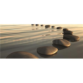Vliesové fototapety kameny na pláži rozměr 250 cm x 104 cm