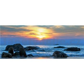 Vliesové fototapety západ slunce nad mořem rozměr 250 cm x 104 cm
