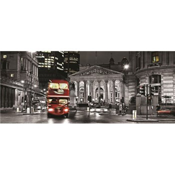 Vliesové fototapety Double Decker v Londýně rozměr 250 cm x 104 cm
