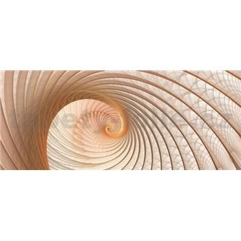 Vliesové fototapety lastura hnědá rozměr 250 cm x 104 cm