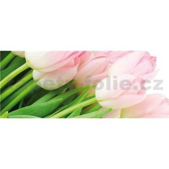 Vliesové fototapety tulipány rozměr 250 cm x 104 cm