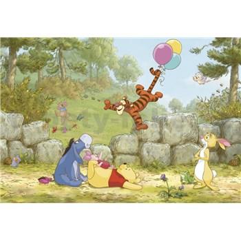 Fototapety Disney Medvídek Pú s balónky rozměr 368 cm x 254 cm