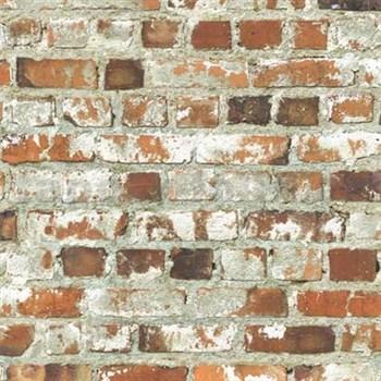 Papírové tapety na zeď Freestyle cihlová stěna červená