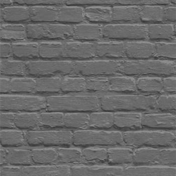 Papírové tapety na zeď Freestyle cihlová stěna černá