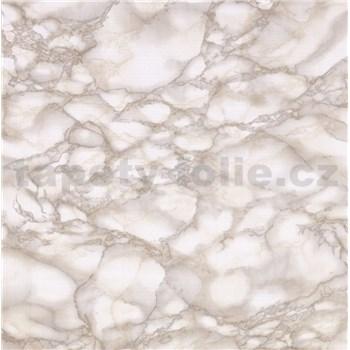 Samolepící fólie mramor béžový Carrara 67,5 cm x 15 m