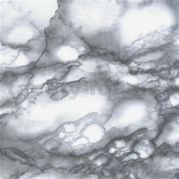 Samolepící tapety - mramor Carrara šedá 67,5 cm x 15 m
