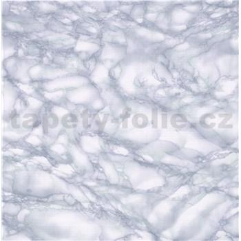 Samolepící tapety - mramor Carrara světle modrá 67,5 cm x 15 m