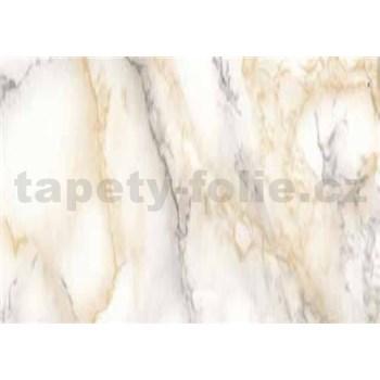 Samolepící tapety - mramor Carrara světle béžová 67,5 cm x 15 m