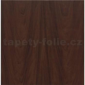 Samolepící tapety dřevo vlašského ořechu tmavé - 90 cm x 15 m