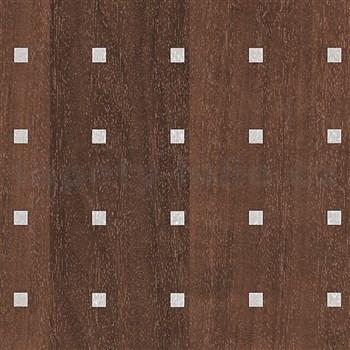 Samolepící tapety dřevo olše tmavá s aplikací - 45 cm x 15 m
