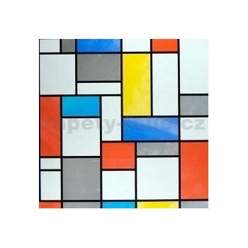 Samolepící tapety transparentní Mondriaan - 45 cm x 15 m