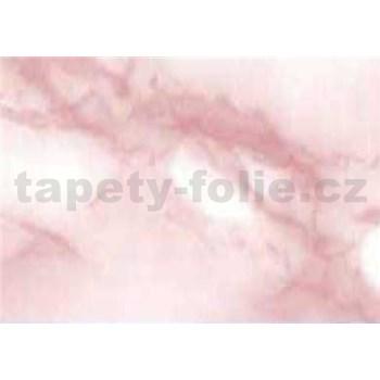 Samolepící tapety - mramor Carrara růžová 67,5 cm x 15 m
