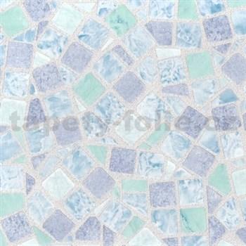 Samolepící tapety - mozaika modrá 90 cm x 15 m