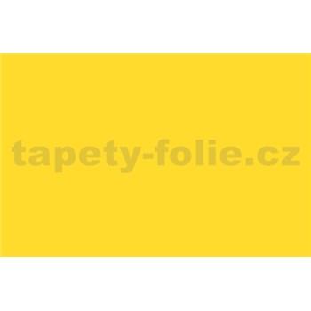 Samolepící tapety - žlutá lesklá 67,5 cm x 15 m